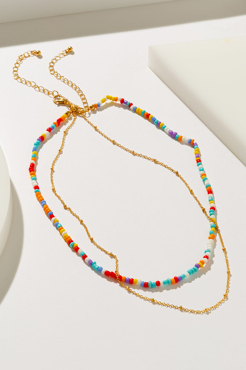 SPECKLE NECKLACE SET