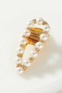 PEARL AND DIAMOND CLIP