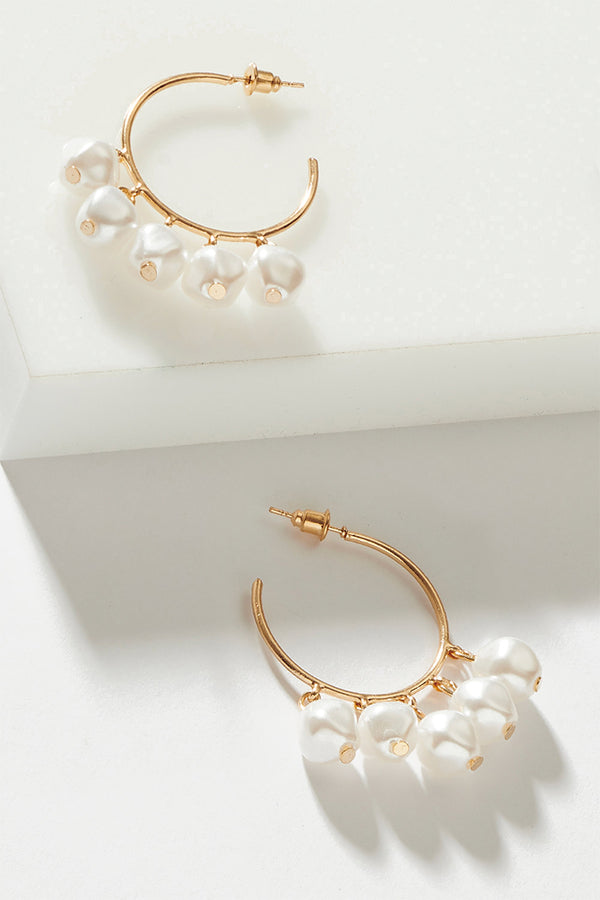 PEARL PEBBLE HOOPS