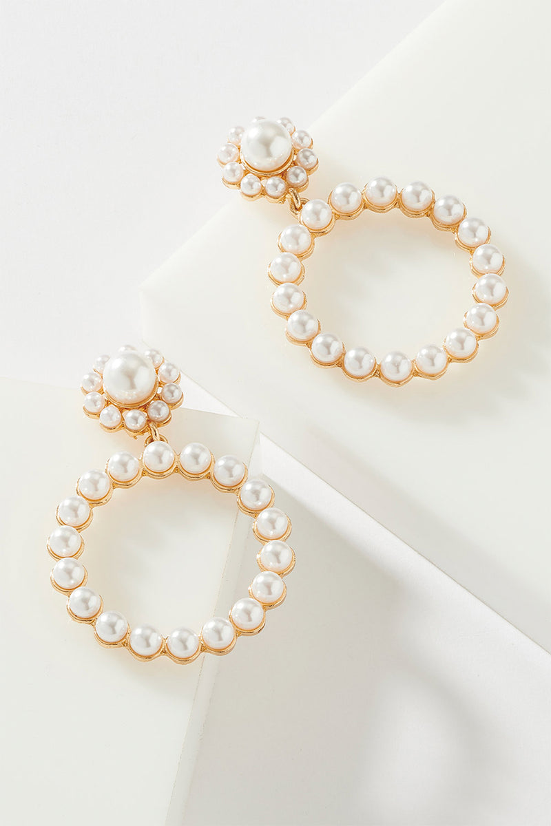 CIRCLE OF PEARLS EARRING