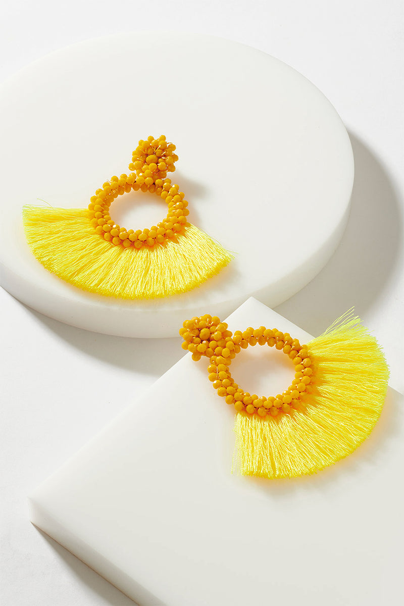 TASSEL FAN EARRING
