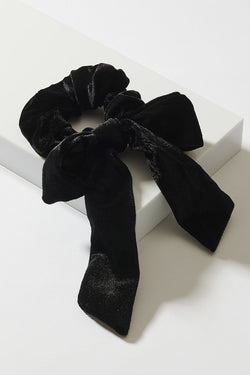 VELVET PONY WRAP WITH BOW