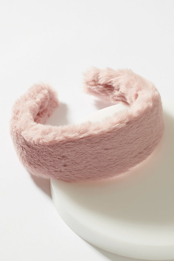 WIDE FAUX FUR HEADBAND
