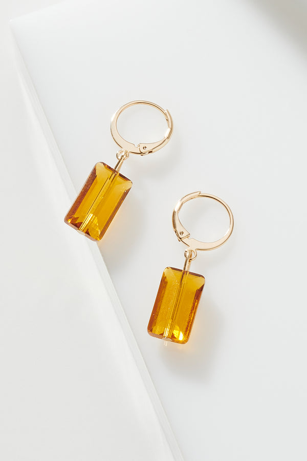CITRINE JEWEL EARRING