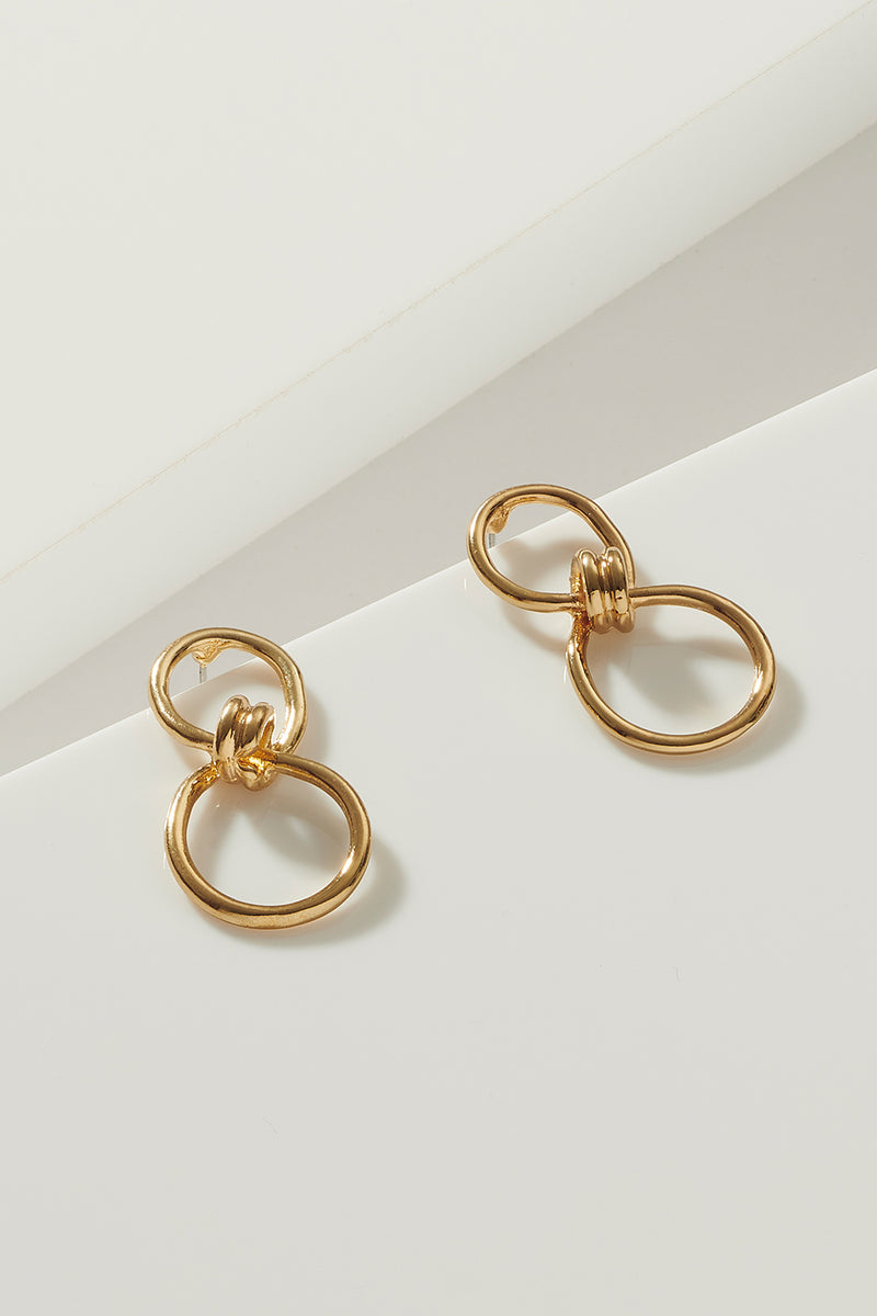 GOLD INFINITE KNOT EARRING