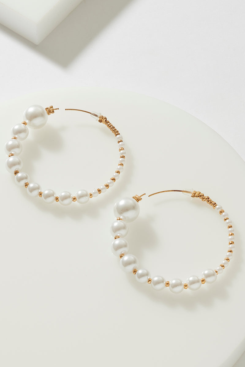 'ON POINT' PEARL HOOP
