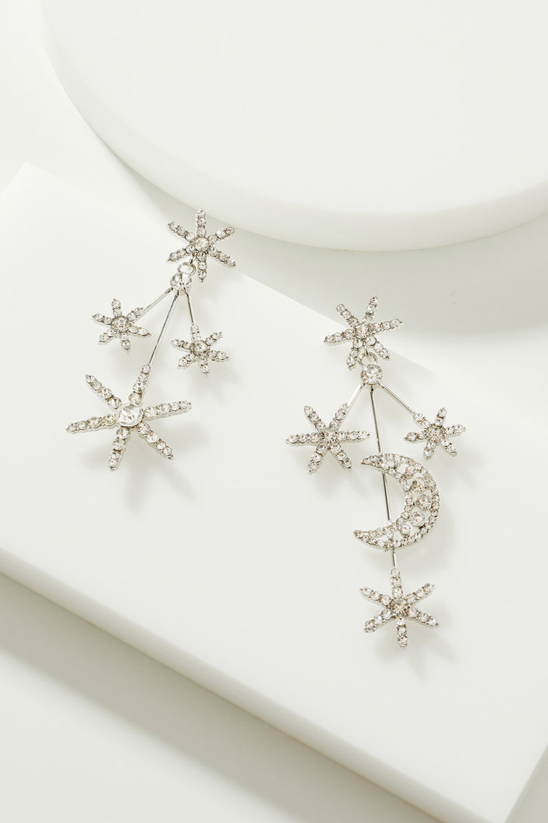 MOON & STARS CRYSTAL EARRINGS