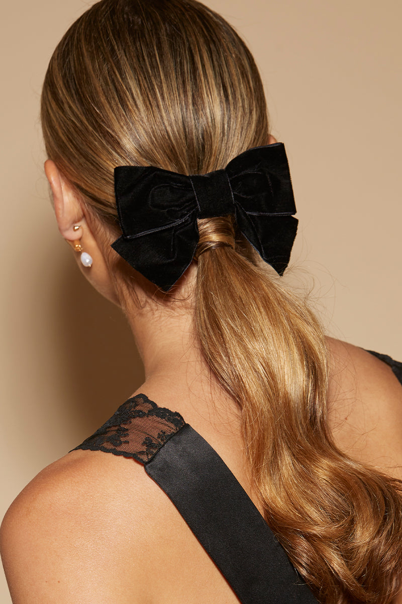 SMALL VELVET ROXY BOW