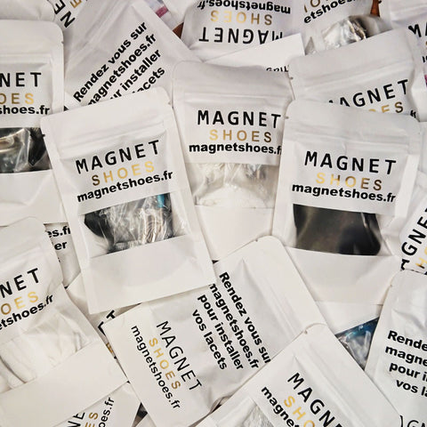packaging lacet magnet shoes