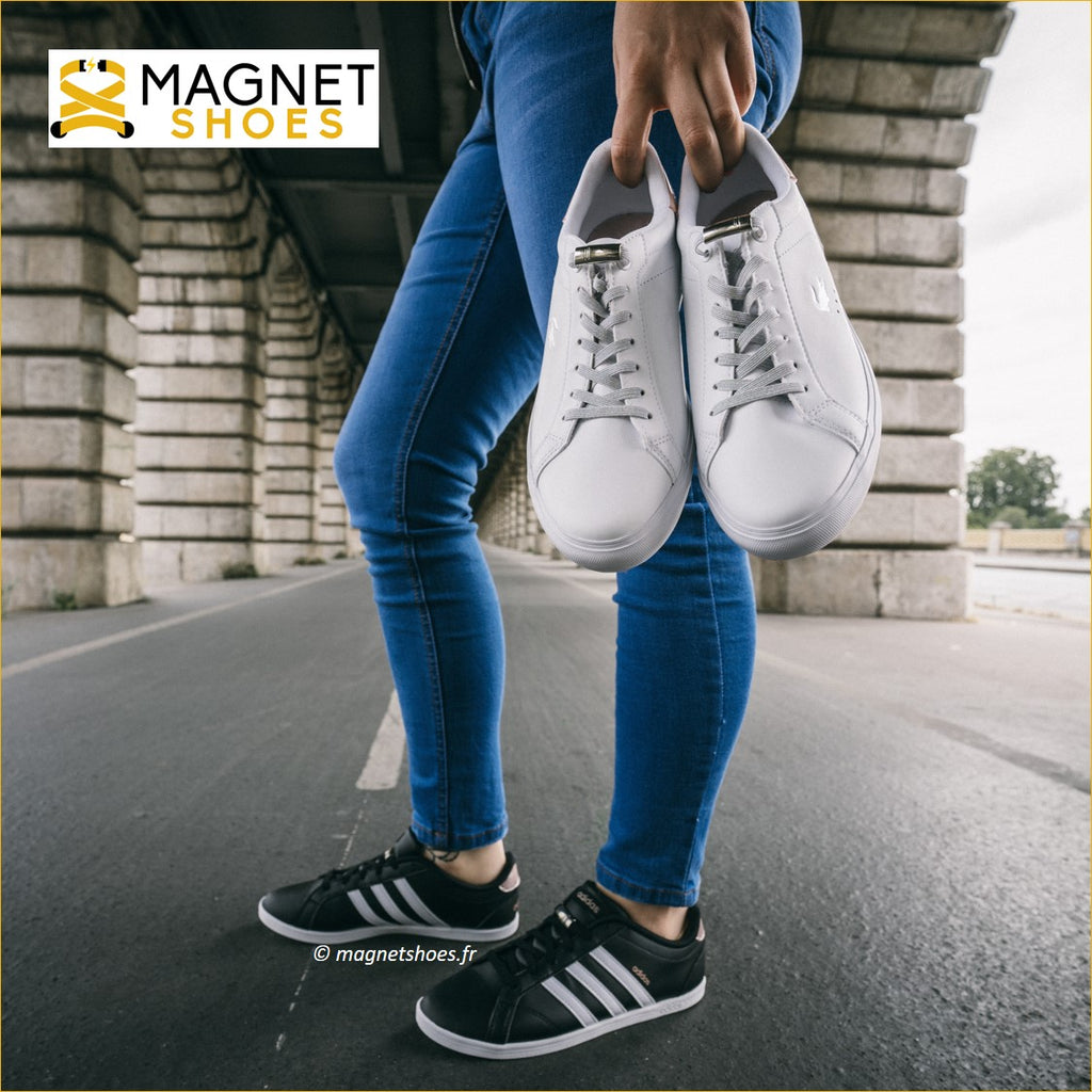 lacet magnet shoes elastique brillant main