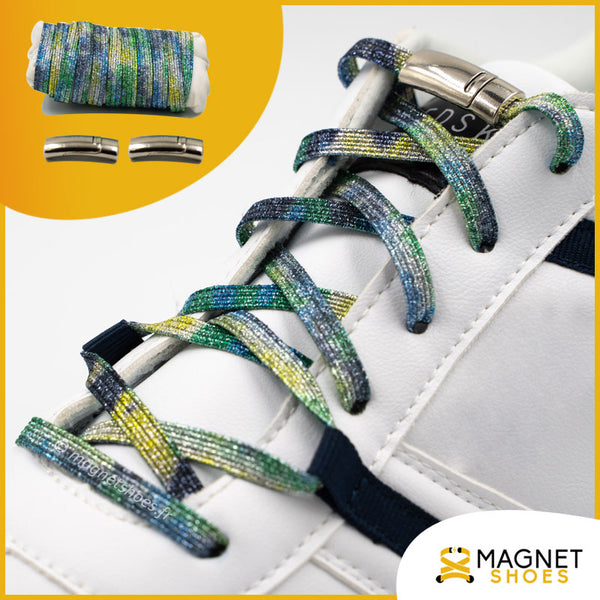 Lacet magnet shoes elastique brillant splashing