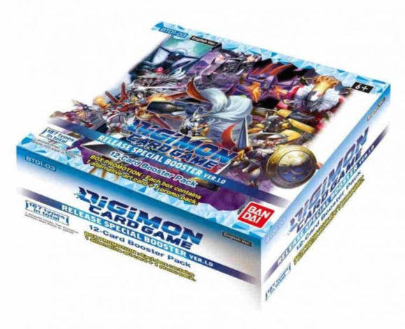 Digimon TCG - Release Special Booster Display Ver.1.0 BT01-03 (24 Packs) - Inglés
