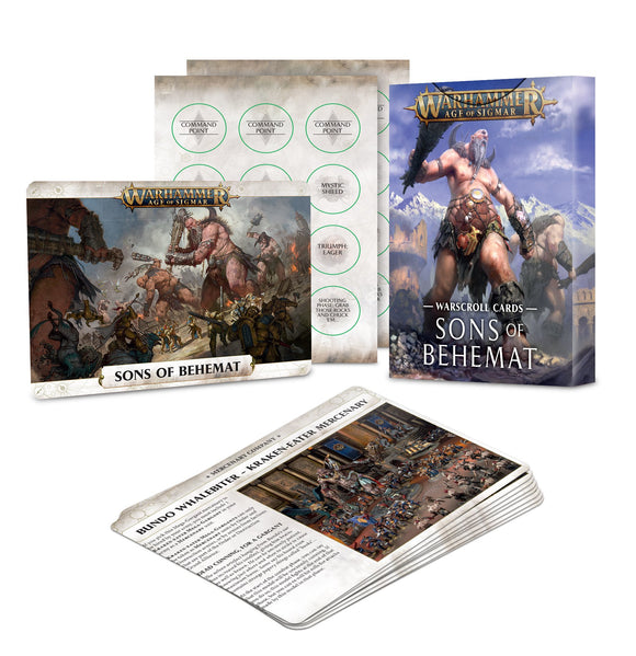 Warscroll Cards: Sons of Behemat (Inglés)