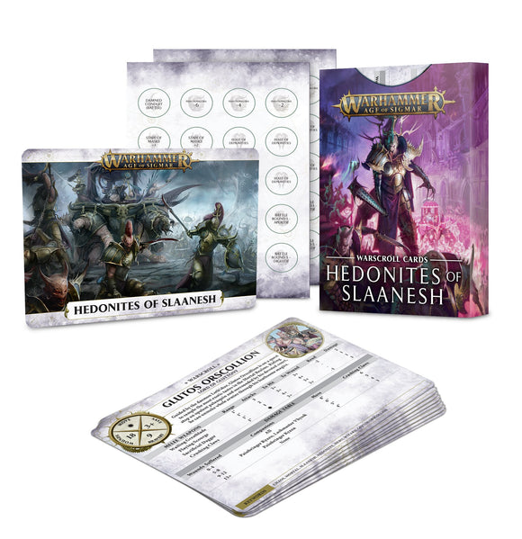 Warscroll Cards: Hedonites of Slaanesh (Inglés)
