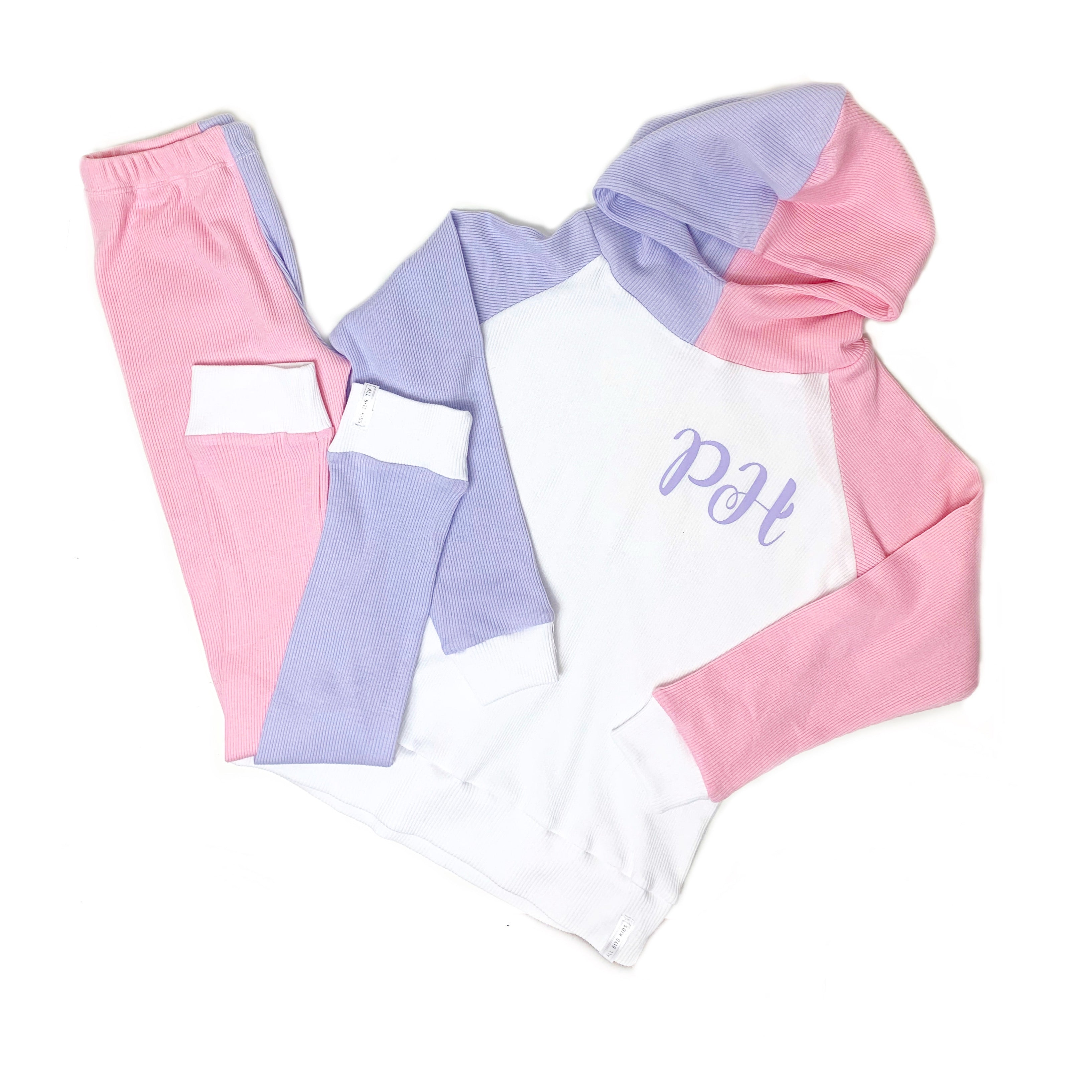 Multi Colour way lounge Hooded set
