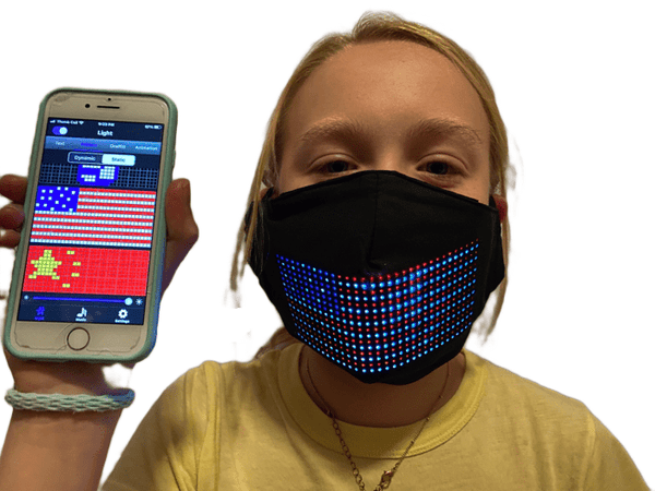 Large LED App Controlled Face Mask