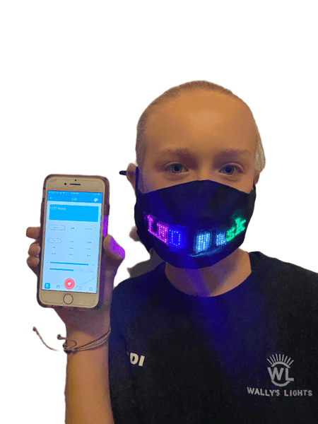 LED App Controlled Face Mask