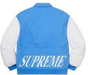 Supreme Twill Varsity Varsity Jacket Light Blue