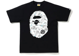 BAPE A Bathing Ape Space Camo Big Ape Head Tee Black