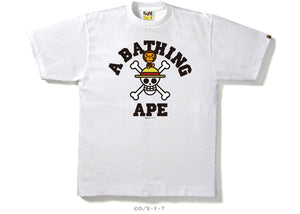 BAPE One Piecestraw Hat Jolly Roger X Milo Tee White