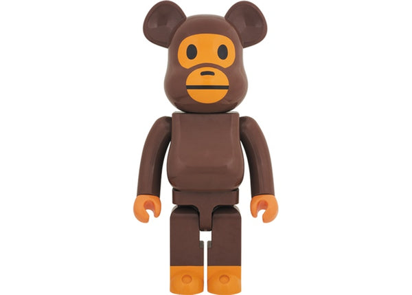 Bearbrick x Bape Baby Milo 1000% Brown