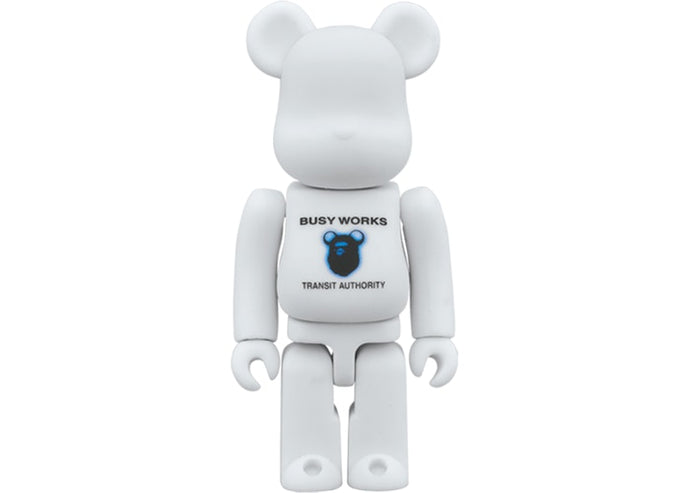 Bearbrick x Bape x Stash 100% White