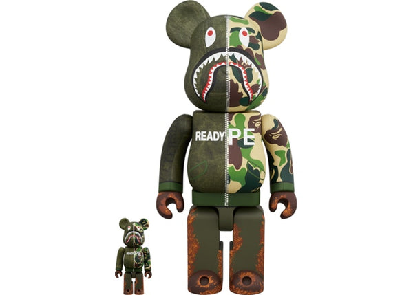 BEAR BRICK BAPE X READYMADE 400% & 100%