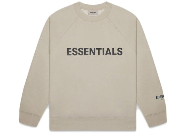 FEAR OF GOD ESSENTIALS 3D Silicon Applique Crewneck Olive/Khaki