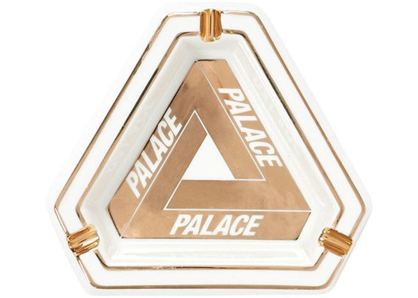 Palace Tri-Ferg Ceramic Ashtray White/Gold