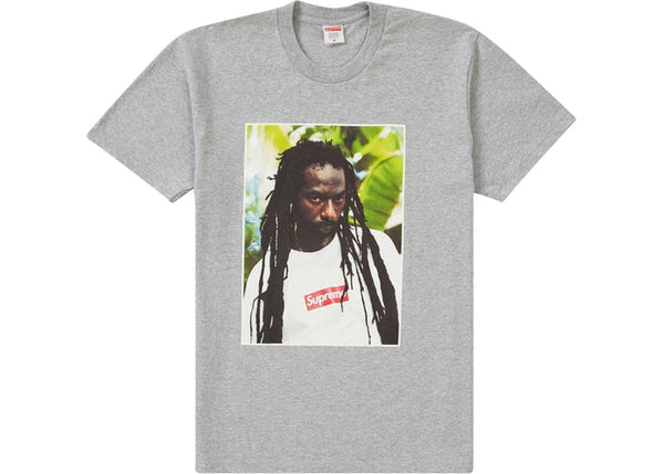 Supreme Buju Banton Tee Heather Grey