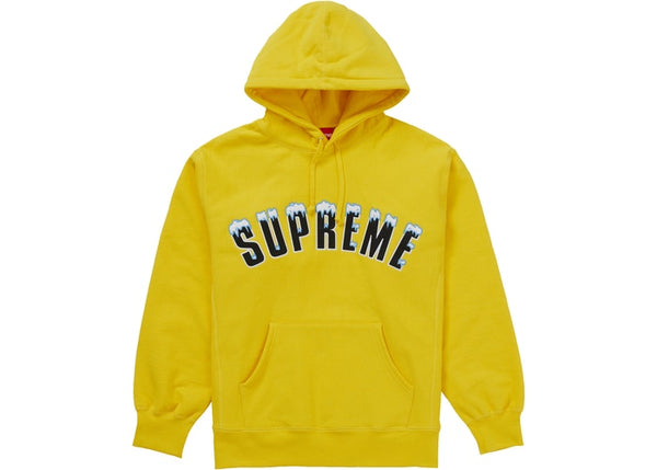 Supreme Icy Arc Hooded Sweatshirt Yellow