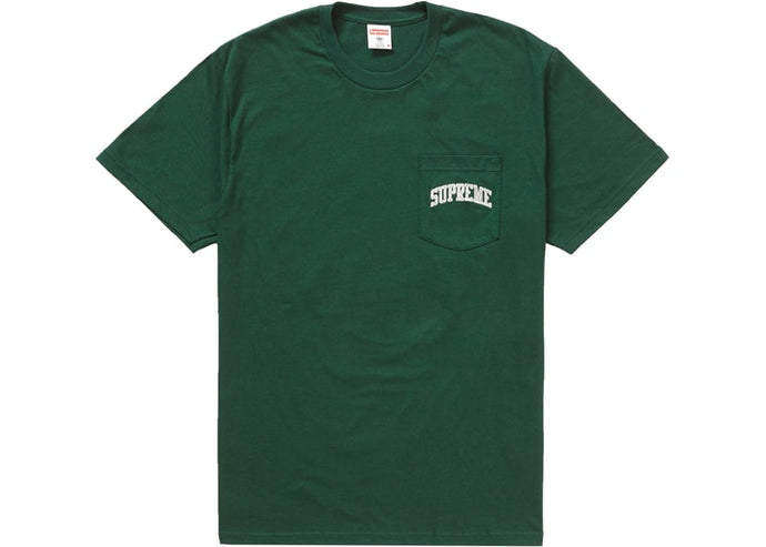Supreme NFL x Raiders x '47 Pocket Tee Dark Green