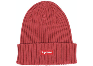 Supreme Overdyed Ribbed Beanie (SS18) Washed Magenta