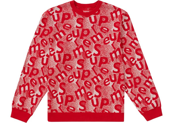 Supreme Scatter Text Crewneck Red