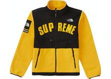 Load image into Gallery viewer, Supreme The North Face Arc Logo Denali Fleece Jacket Yellow