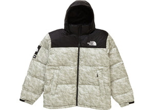 Supreme The North Face Paper Print Nuptse Jacket Paper Print