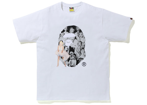 BAPE A BATHING APE x Marilyn Monroe Big Ape Head Tee White