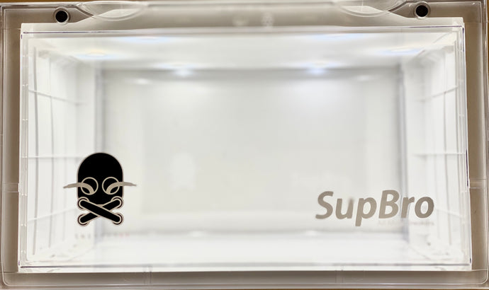 SupBro X Sneaker 63 Led Light Noise activated sensor Display crate