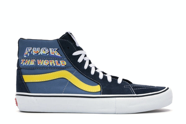 Vans Sk8-Hi Supreme Fuck the World Blue