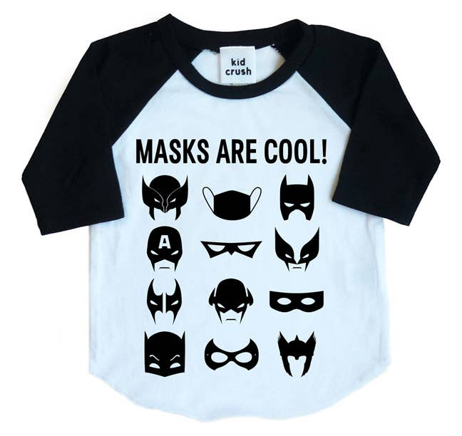 Masks Are Cool Raglan Tee