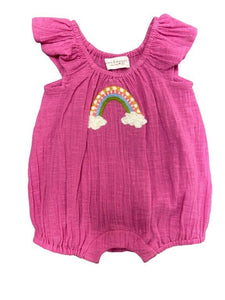 Mimi and Maggie Pink Rainbow Wishes Romper