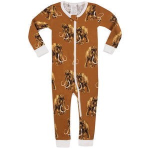 Milkbarn Zip Coverall Woolly Mammoth