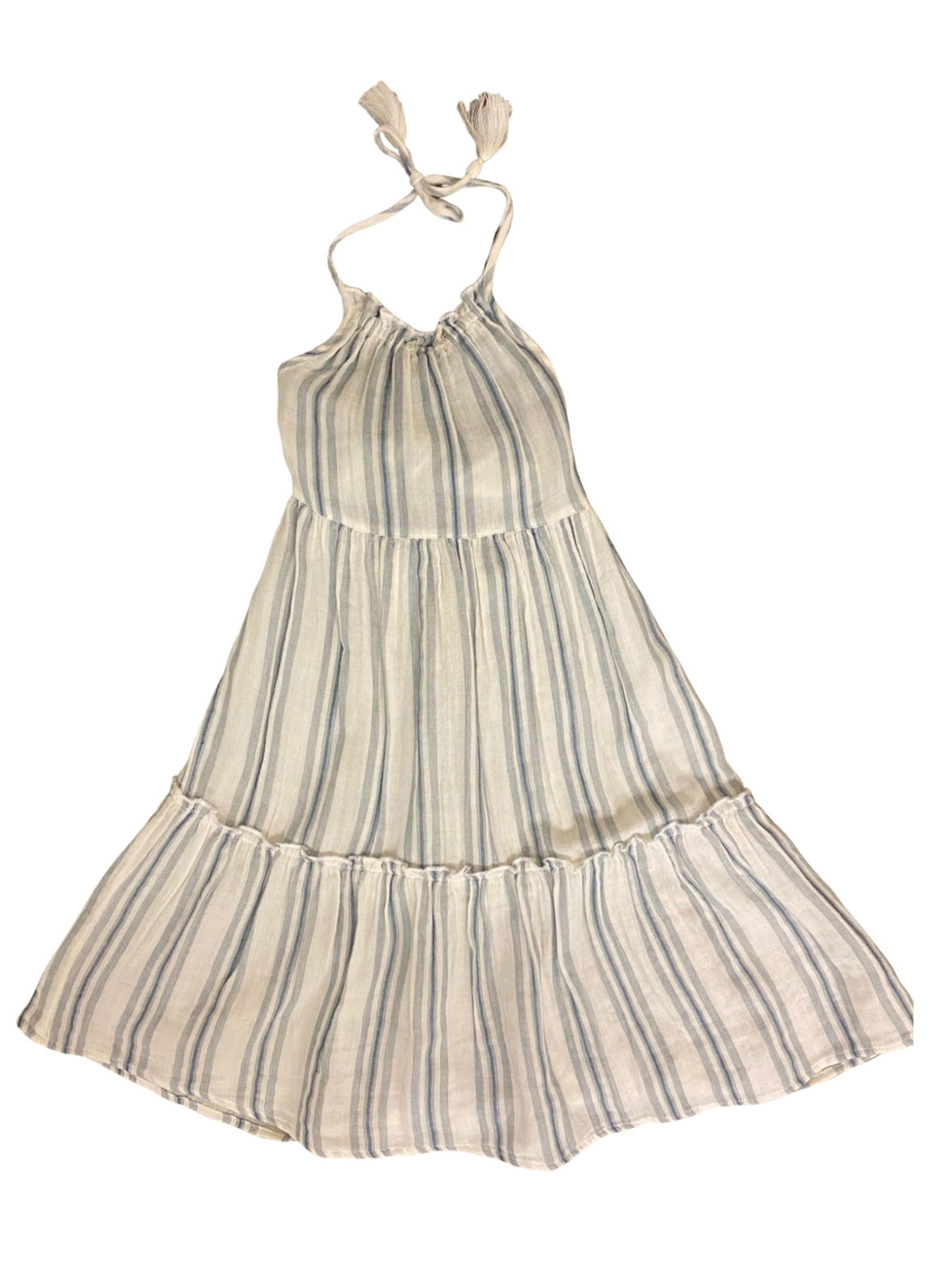 Mimi and Maggie Shell Stipe Halter Dress