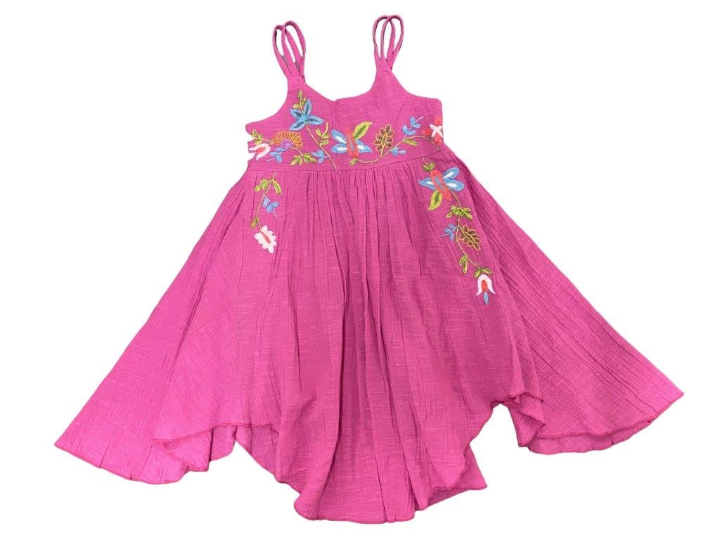 Mimi and Maggie Pink Flower Trail Dress