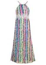 Load image into Gallery viewer, Hannah Banana Tropical Print Pleated Halter Maxi Dress