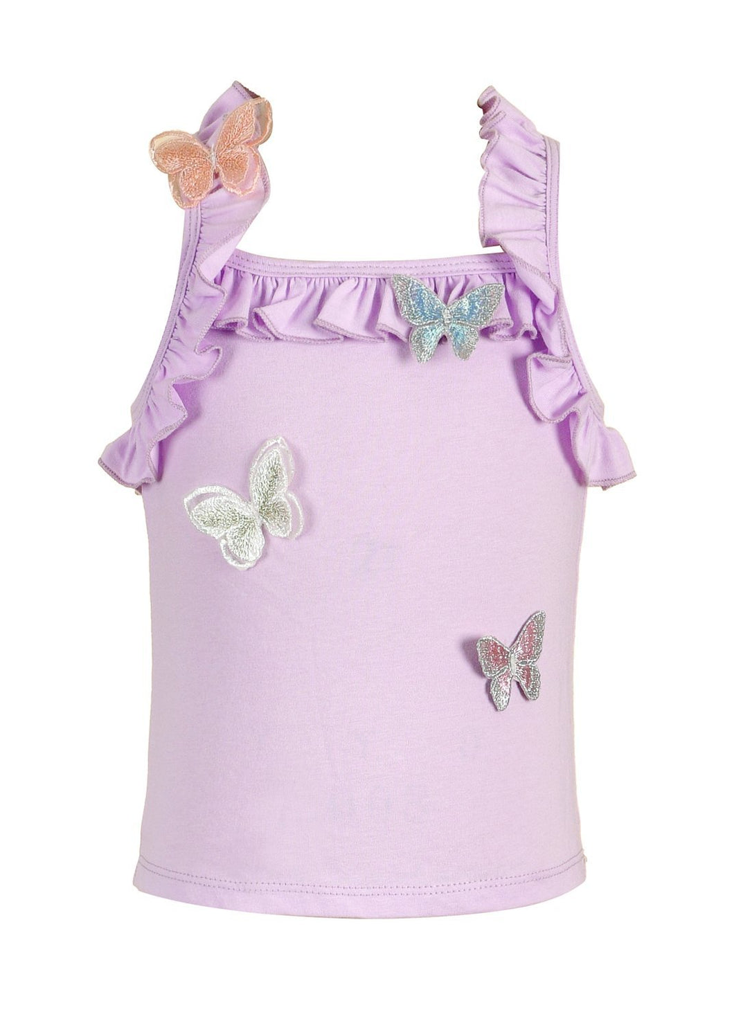 Baby Sara Butterfly Ruffle Top