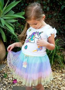 Baby Sara Rainbow Pleat Tutu Skirt