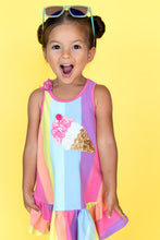 Load image into Gallery viewer, Baby Sara Ice Cream Patch Rainbow Dress