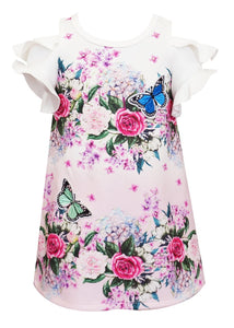 Baby Sara Ombre Floral Print Dress