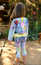 Load image into Gallery viewer, Baby Sara Rainbow Denim Jacket
